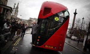 Boris Johnson on a Routemaster bus