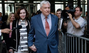Conrad Black leaving a bail hearing in Chicagowith his wife Barbara Amiel in 2010.