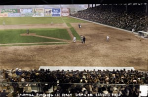 The first game at the newly opened Ebbets Field on 5 April 1913. Brooklyn Superbas took on the New York Yankees in front of a sell out crowd of 30,000.