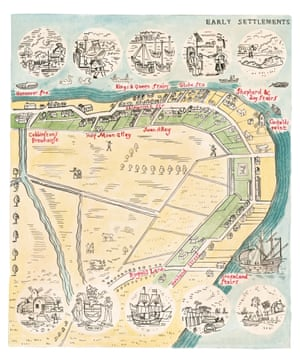 Rotherhithe early settlements map