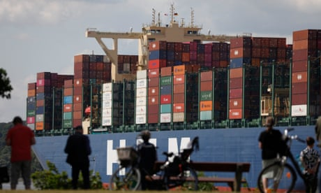 German exports jump as Covid-19 recovery builds - business live