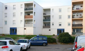 The apartment block in Creutzwald where Hasna Aït Boulahcen's father lives.