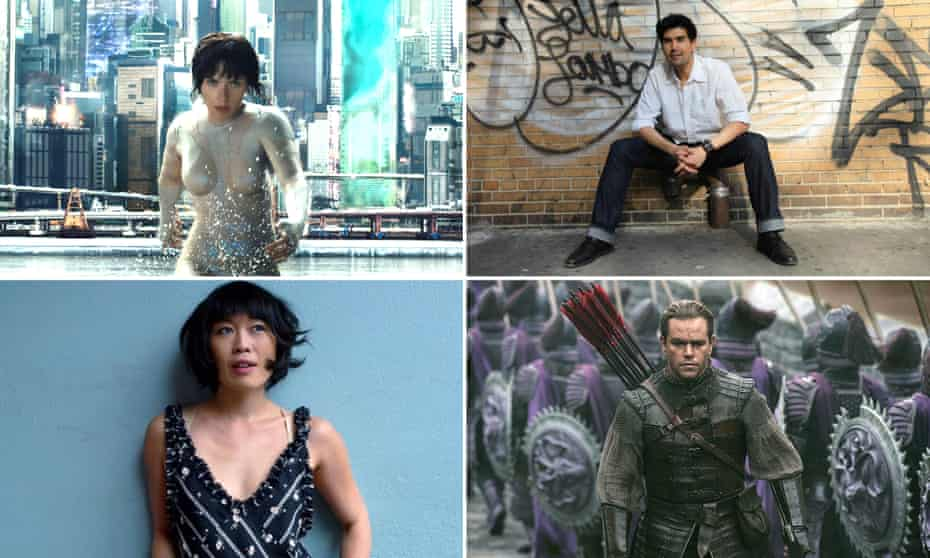 Clockwise from top left: Scarlett Johansson in Ghost in the Shell; Pun Bandhu; Matt Damon in Great Wall; Atsuko Okatsuka.
