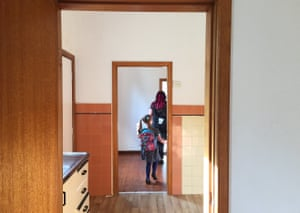 Sandra and her daughter Eliza inspect a $640-a-week house on Kepos Street in Redfern. visible