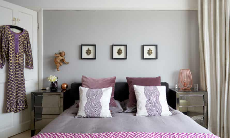 Prints and princess: African fabrics in the master bedroom.
