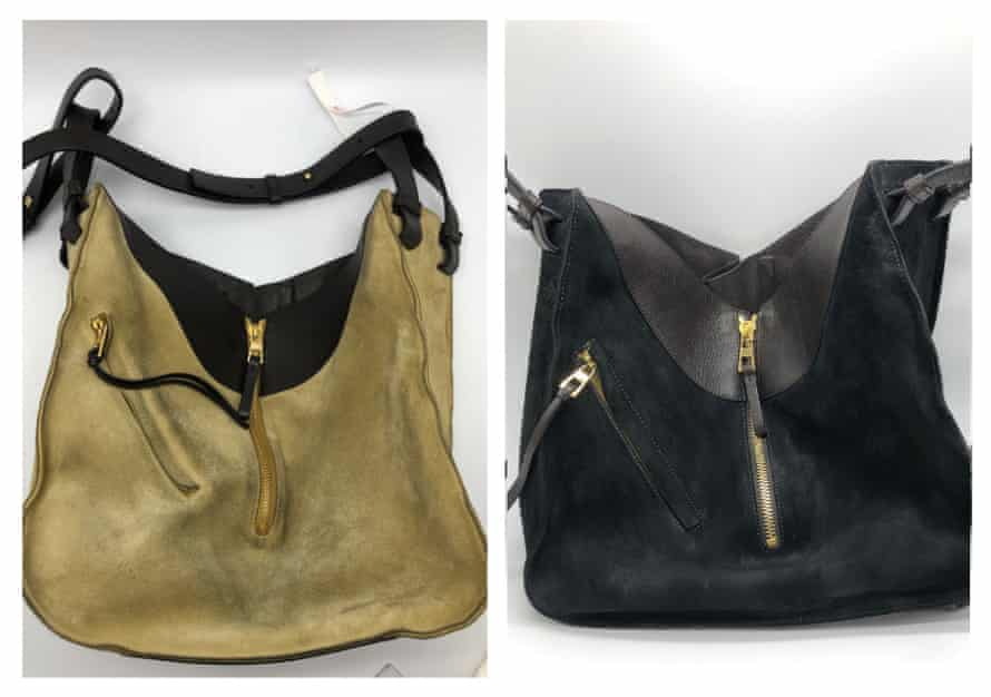 Alyx Gorman's revamped Loewe bag before and after
