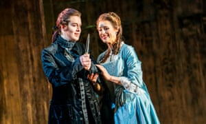 Kitty Whately as Sesto and Susannah Hurrell as Cleopatra in Giulio Cesare, part of English Touring Opera's 2020 spring tour