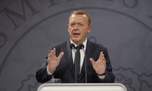 New Danish prime minister Lars Lokke Rusmussen