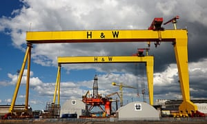 Samson and Goliath cranes at Harland and Wolff's Belfast shipyard