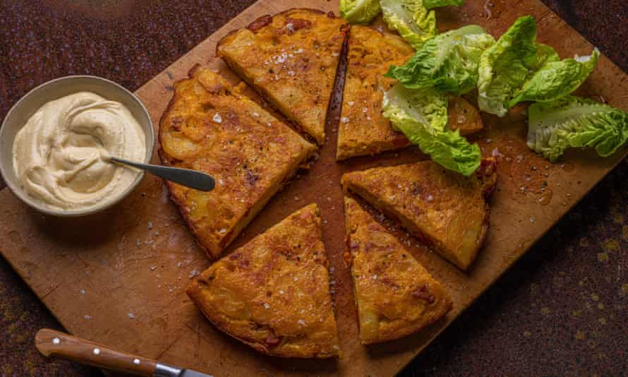 Tortilla with chorizo by Nieves Barragán Mohacho.