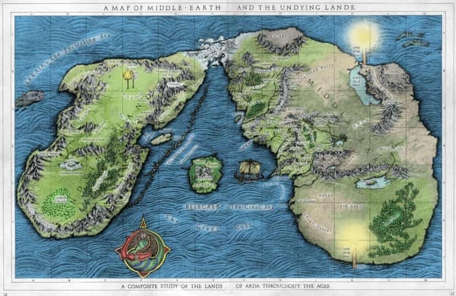 Tolkien's Middle Earth and the Undying Lands.