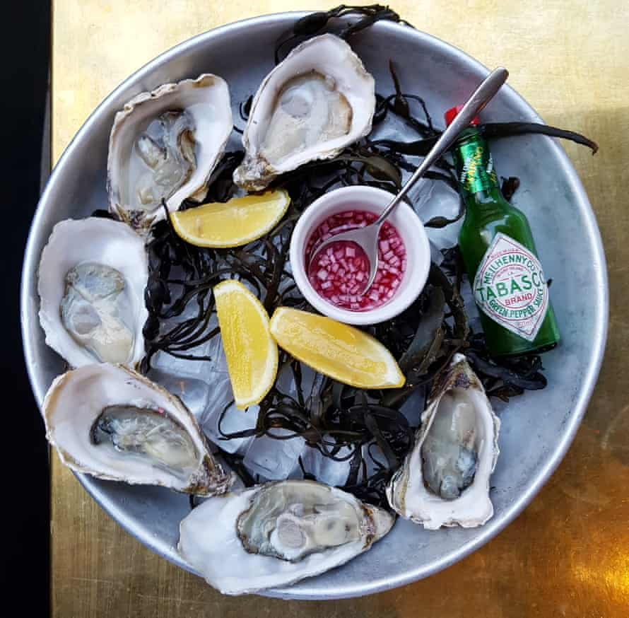 There to be eaten … oysters on ice.