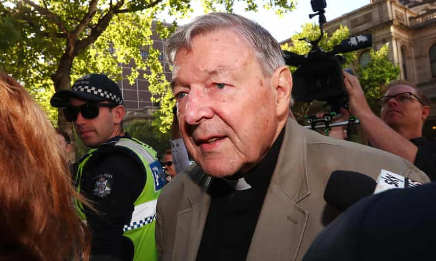 Cardinal George Pell arrives at Melbourne's county court on Wednesday when his bail was revoked and he was sent to jail