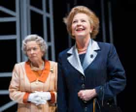 Marion Bailey and Stella Gonet in Handbagged.