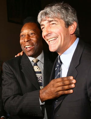 Rossi is pictured with Pele in 2004, after the Brazilian named Rossi in his list of 125 greatest living footballers.