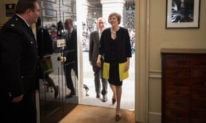 Theresa May entering Downing Street as prime minister for the first time in July.