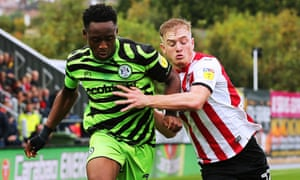 Forest Green's Udoka Godwin-Malife and Exeter City's Jack Sparkes