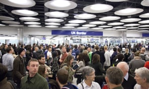 Long queues at Heathrow for passport checks have become a familiar sight.