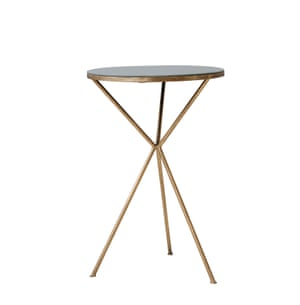 Rosalind Gold tripod occasional table, £152, by Rose & Grey