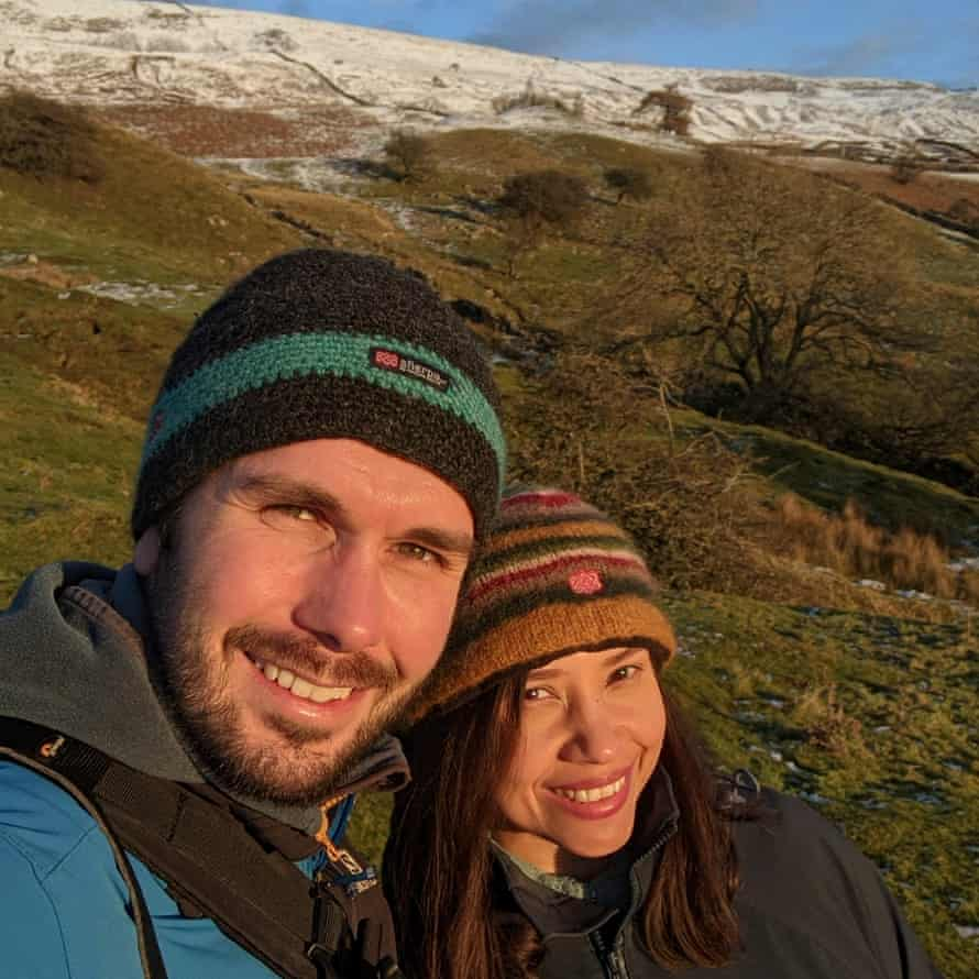4. Peter and Kia before their semi-solo hike in Reeth, 2020