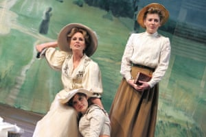 Joanna Lumley as Madame Ranevskaya, left, in The Cherry Orchard at Sheffield Crucible in 2007.