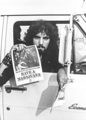 David Peel spreading the word © Dan Garson, Woodstock, Aug 1969