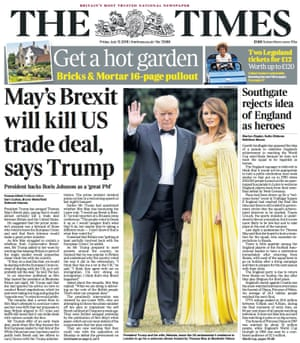 Times front page, Friday 13 July