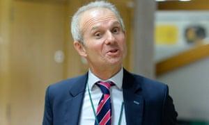 David Lidington arrives at the Scottish parliament in Edinburgh