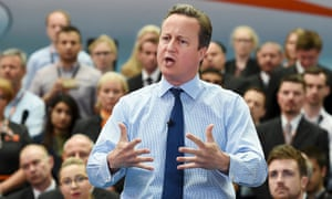 David Cameron delivers a speech on the EU at Luton airport, 24 May 2016