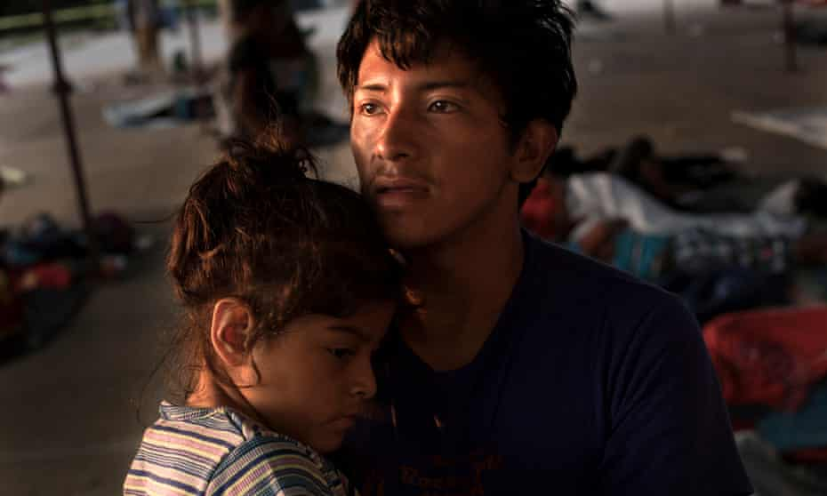 Juan Antonio with his six-year-old daughter Lesly, who has cerebral palsy.
