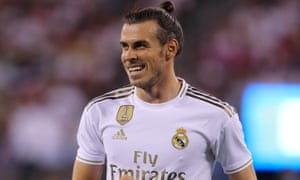 Gareth Bale during Real Madrid's 7-3 pre-season defeat by Atlético Madrid in New Jersey.