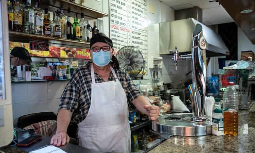 Diego Belmonte, a takeaway owner in Magaluf