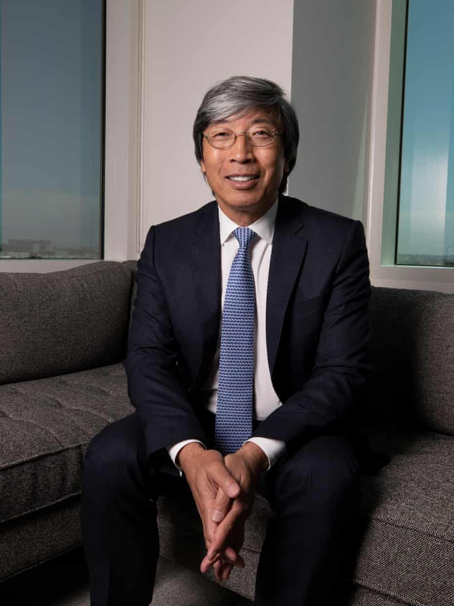 Patrick Soon-Shiong inside the company's new office. 'I'm a complete news junkie.'
