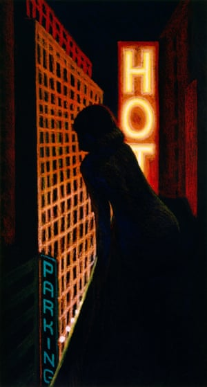 Woman at the Window 3, 1983, oil stick on canvas