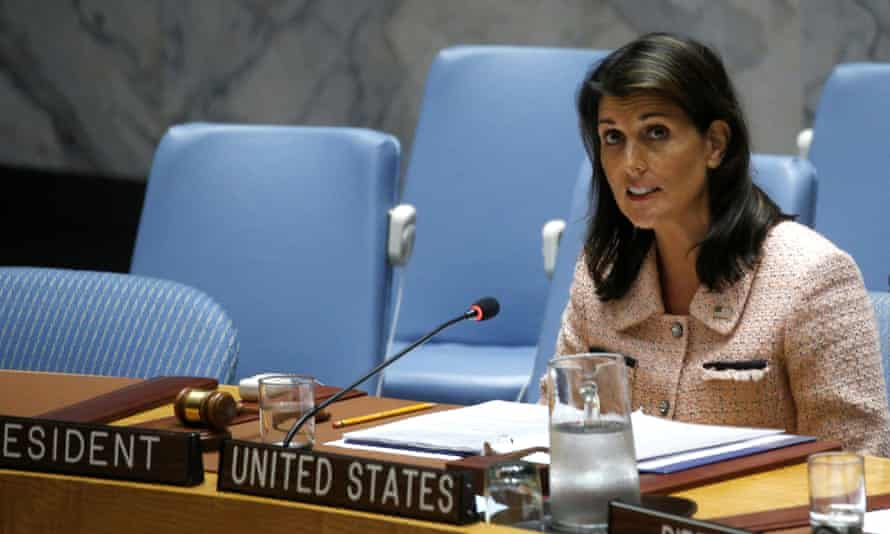 Nikki Haley said caving in to Russian pressure was a 'stain' on the work of UN panel monitoring sanctions on North Korea.