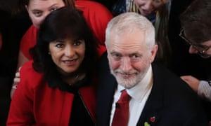 Jeremy Corbyn with his wife, Laura Álvarez.