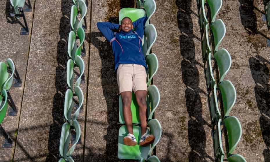 Tawanda Muyeye photographed at Canterbury cricket ground in Kent.