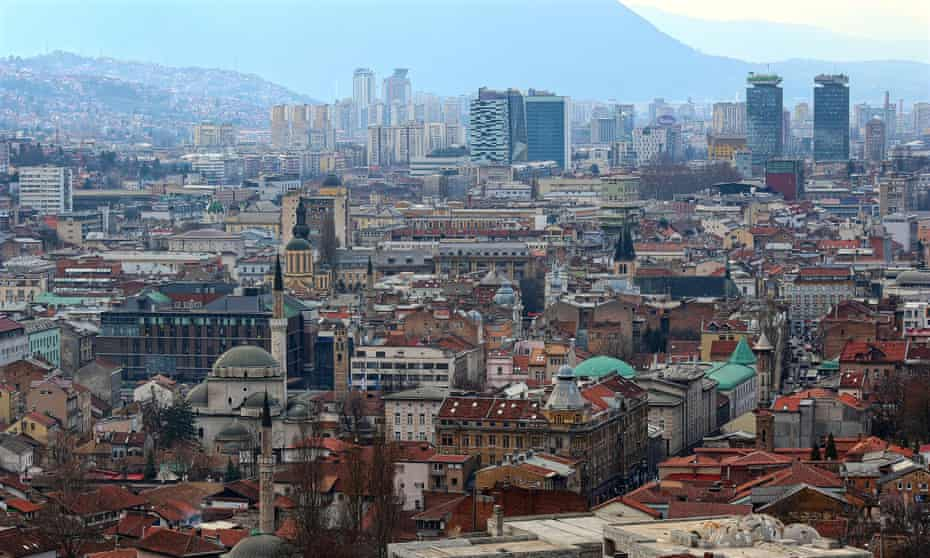 Sarajevo's skyline, where 'mosque, cathedral and synagogue coexist'.
