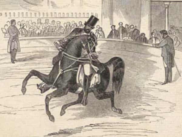 Pablo Fanque performing at Astley's Amphitheatre, 1847.