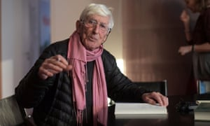 Tomi Ungerer signing one of his books at the Strasbourg museum dedicated to his work.