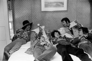 Jimi hendrix and the experience with DJ Emporer Roskoe, and Duke of Norfolk to be - Woburn Abbey 1968