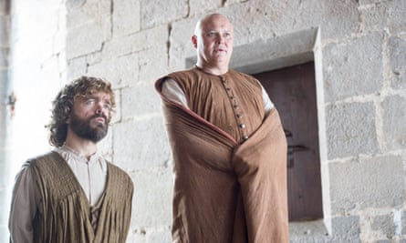 Peter Dinklage as Tyrion Lannister and Conleth Hill as Varys in Game of Thrones