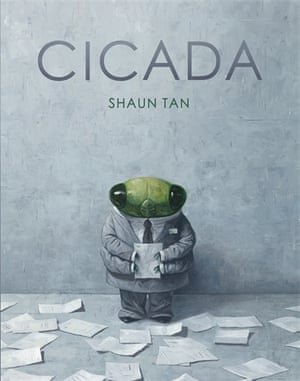 Cicada is the story of a scorned insect who works in a grey, sterile office with hostile coworkers. With shadowy illustrations and sparse narration, it examines workplace bullying in a story that is 'for anyone who has ever felt unappreciated, overlooked or overworked'.