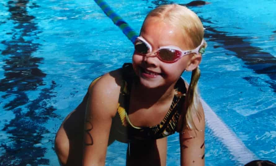 Claire Curzan during her very early years as a swimmer. She was a fixture in the pool from the age of three