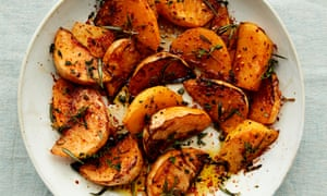 Anna Jones's maple and black pepper roast swede: this is one sumptuous side dish.