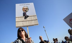 Remain supporters during a People's Vote rally outside the Labour party conference in Brighton