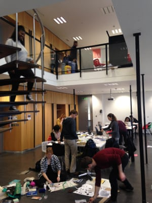 The well space in the University of Sheffield's school of architecture