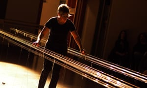 'Playing it can be ecstatic' … Ellen Fullman with her Long String Instrument. Photograph: Robert Szkolnicki