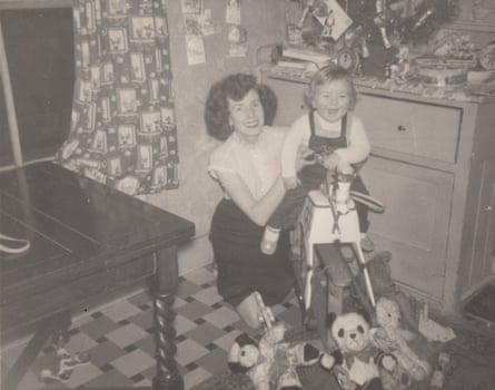 Jonathan Gornall and his mother on Christmas Day 1956.