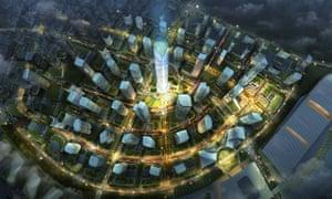 Tianfu New District masterplan, Chengdu.